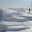 大文字山の大雪庇
